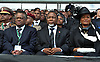 Qunu, South Africa: 15.12.2013: STATE FUNERAL FOR NELSON MANDELA<br /> Speaker of Parliament Max Sisulu, Deputy President Motlanthe Kgalema Motlanthe and his partner Gugu Maseko at the Funeral Service for former President Nelson Mandela in Qunu, Eastern Cape, South Africa<br /> Mandatory Credit Photo: &copy;Jiyane-GCIS/NEWSPIX INTERNATIONAL<br /> <br /> **ALL FEES PAYABLE TO: &quot;NEWSPIX INTERNATIONAL&quot;**<br /> <br /> IMMEDIATE CONFIRMATION OF USAGE REQUIRED:<br /> Newspix International, 31 Chinnery Hill, Bishop's Stortford, ENGLAND CM23 3PS<br /> Tel:+441279 324672  ; Fax: +441279656877<br /> Mobile:  07775681153<br /> e-mail: info@newspixinternational.co.uk