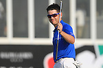 Louis Oosthuizen after finishing his round on the 18th green during the Final Day of the Dubai World Championship, Earth Course, Jumeirah Golf Estates, Dubai, 28th November 2010..(Picture Eoin Clarke/www.golffile.ie)