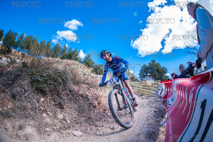 Chelva, SPAIN - MARCH 6: Adelino Moll during Spanish Open BTT XCO on March 6, 2016 in Chelva, Spain