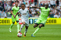 Wayne Routledge of Swansea City  runs upfield during the Barclays Premier League match between Swansea City and Manchester City played at the Liberty Stadium, Swansea on the 15th of May  2016
