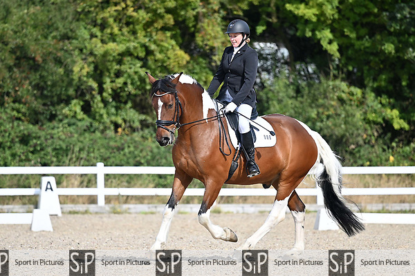 Stapleford Abbotts. United Kingdom. 08 September 2019. Class 3. British dressage. Brook Farm training centre. Essex. UK.~ 08/09/2019.  MANDATORY Credit Garry Bowden/Sport in Pictures - NO UNAUTHORISED USE - 07837 394578