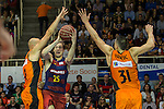 FC Barcelona Lassa's Petteri Koponen during the match of Endesa ACB League between Fuenlabrada Montakit and FC Barcelona Lassa at Fernando Martin Stadium in fuelnabrada,  Madrid, Spain. October 30, 2016. (ALTERPHOTOS/Rodrigo Jimenez)