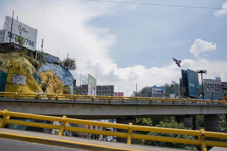 City Santa Fe, used to be garbage landfill and is currently being transformed into the corporate capital of Mexico City.  Mexico DF, Mexio
