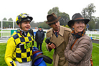 Happy connections of Alfred Boucher in the Winner's enclosure after winning The Brunton Publications Pembroke Handicap during Horse Racing at Salisbury Racecourse on 14th August 2019