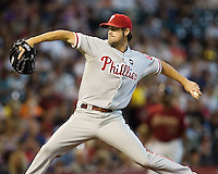 Hamels, Cole 5575.jpg Philadelphia Phillies at Houston Astros. Major League Baseball. September 6th, 2009 at Minute Maid Park in Houston, Texas. Photo by Andrew Woolley.