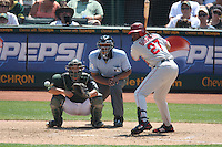 OAKLAND, CA - JULY 13:  Vladimir Guerrero of the Los Angeles Angels of Anaheim bats during the game against the Oakland Athletics at the McAfee Coliseum in Oakland, California on July 13, 2008.  The Angels defeated the Athletics 4-3.  Photo by Brad Mangin