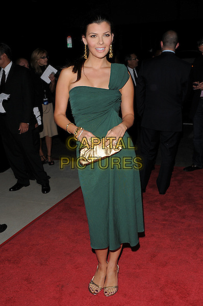 "ALI LANDRY.The Fox Searchlight L.A. Premiere of ""The Secret Life of Bees"" held at The Academy of Motion Arts & Sciences in Beverly Hills, California, USA..October 6th, 2008.full length green one shoudler dress gold clutch bag .CAP/DVS.©Debbie VanStory/Capital Pictures."