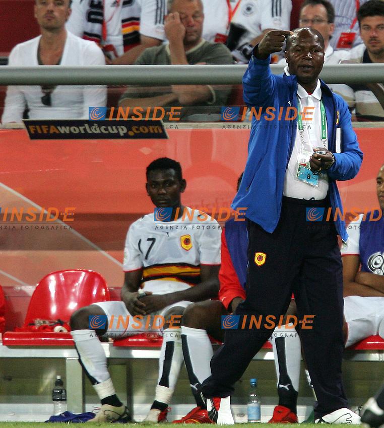 Koln 11/6/2006 World Cup 2006.Angola Portugal - Angola Portogallo 0-1.Photo Andrea Staccioli Insidefoto.De Oliveira Goncalves, Angola trainer