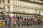 The peloton led by Groupama-FDJ on Place de la Concorde during Stage 21 of the 2018 Tour de France running 116km from Houilles to Paris Champs-Elysees, France. 29th July 2018. <br /> Picture: ASO/Pauline Ballet | Cyclefile<br /> All photos usage must carry mandatory copyright credit (&copy; Cyclefile | ASO/Pauline Ballet)