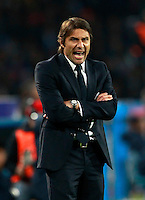 Calcio, Serie A: Napoli vs Juventus. Napoli, stadio San Paolo, 30 marzo 2014. <br /> Juventus coach Antonio Conte shouts to his players during the Italian Serie A football match between Napoli and Juventus at Naples' San Paolo stadium, 30 March 2014. <br /> UPDATE IMAGES PRESS/Isabella Bonotto