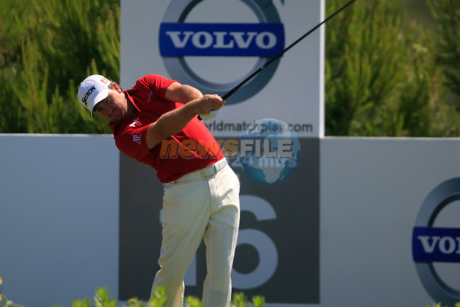 Graeme McDowell (N.IRL) tees off on the 16th tee during the morning session on Day 3 of the Volvo World Match Play Championship in Finca Cortesin, Casares, Spain, 21st May 2011. (Photo Eoin Clarke/Golffile 2011)