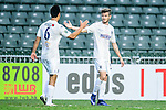 Cameron Neru of Auckland City (l) celebrating the opening goal of Fabrizio Tavano (r) during the Nike Lunar New Year Cup 2017 match between SC Kitchee (HKG) and Auckland City FC (NZL) on January 31, 2017 in Hong Kong, Hong Kong. Photo by Marcio Rodrigo Machado / Power Sport Images