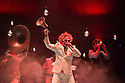 London, UK. 15.05.2015. LIMBO, a mix of cabaret, circus and acrobatics, opens at the London Wonderground at Southbank Centre. Picture shows: Sxip Shirley, Grant Arthur, Mick Stuart. Photograph © Jane Hobson.