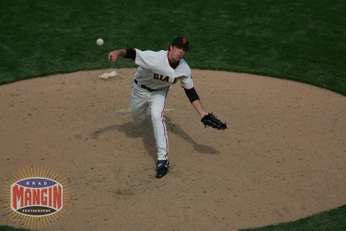 Jeremy Accardo. Baseball: Washington nationals vs San Francisco Giants at AT&T Park in San Francisco on May 7, 2005.