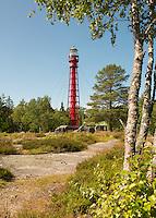 Valsörarna (Valassaaret) Lighthouse located in the Kvarken Archipelago of the Gulf of Bothnia northwest of Vaasa; Finland.