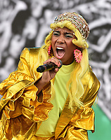 SAN FRANCISCO, CALIFORNIA - AUGUST 10: Santigold performs onstage during the 2019 Outside Lands Music And Arts Festival at Golden Gate Park on August 10, 2019 in San Francisco, California. <br /> CAP/MPI/IS<br /> ©IS/MPI/Capital Pictures