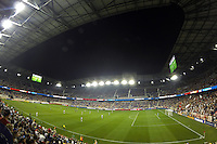General view of Red Bull Arena. The New York Red Bulls and the Philadelphia Union played to a 0-0 tie during a Major League Soccer (MLS) match at Red Bull Arena in Harrison, NJ, on August 17, 2013.