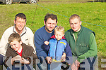 COURSING: Having a good day at the Ballyheigue Coursing on Saturday were: Richard Gentleman (Kilmoyley), Jack McAuliffe (Brosna), Darren and Ryan Houlihan and Stephen Flaherty (Kilflynn).....................................................   Copyright Kerry's Eye 2008