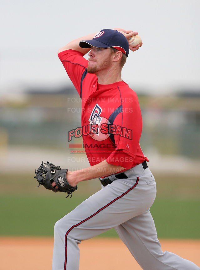 Washington Nationals minor leaguer Colin Balester during Spring Training at the Carl Barger Training Complex on March 19, 2007 in Melbourne, Florida.  (Mike Janes/Four Seam Images)
