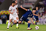 Minamino Takumi of Japan (R) fights for the ball with Omid Ebrahimi Zarandini of Iran (L) during the AFC Asian Cup UAE 2019 Semi Finals match between I.R. Iran (IRN) and Japan (JPN) at Hazza Bin Zayed Stadium  on 28 January 2019 in Al Alin, United Arab Emirates. Photo by Marcio Rodrigo Machado / Power Sport Images