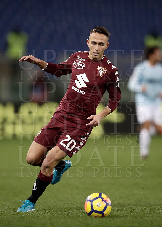 Calcio, Serie A: Roma, stadio Olimpico, 11 dicembre 2017.<br /> Torino's Simone Edera in action during the Italian Serie A football match between Lazio and Torino at Rome's Olympic stadium, December 11, 2017.<br /> UPDATE IMAGES PRESS/Isabella Bonotto