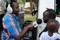 SOUTH SUDAN  Bahr al Ghazal region , Lakes State, town Cuibet, catholic radio Good News / SUED-SUDAN  Bahr el Ghazal region , Lakes State, Cuibet , Fr. Don Bosco Ochieng Onyalla, <br /> Leiter der Radiostation Good News Radio