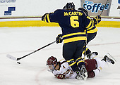 Steven Whitney (BC - 21), Tom McCarthy (Merrimack - 6) - The Boston College Eagles defeated the visiting Merrimack College Warriors 4-3 on Friday, November 16, 2012, at Kelley Rink in Conte Forum in Chestnut Hill, Massachusetts.