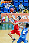 Li Kim Wong #55 of SCAA Men's Basketball Team goes to the basket against the Fukien during the Hong Kong Basketball League game between SCAA and Fukien at Southorn Stadium on June 01, 2018 in Hong Kong. Photo by Yu Chun Christopher Wong / Power Sport Images