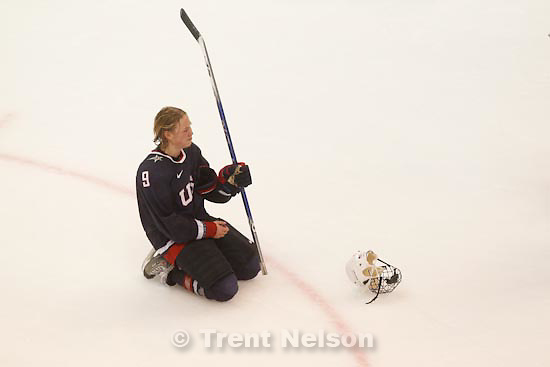 Trent Nelson  |  The Salt Lake Tribune.Canada defeats Team USA in the gold medal game, women's Ice Hockey at the Canada Hockey Place, Vancouver, XXI Olympic Winter Games, Thursday, February 25, 2010. USA's Molly Engstrom