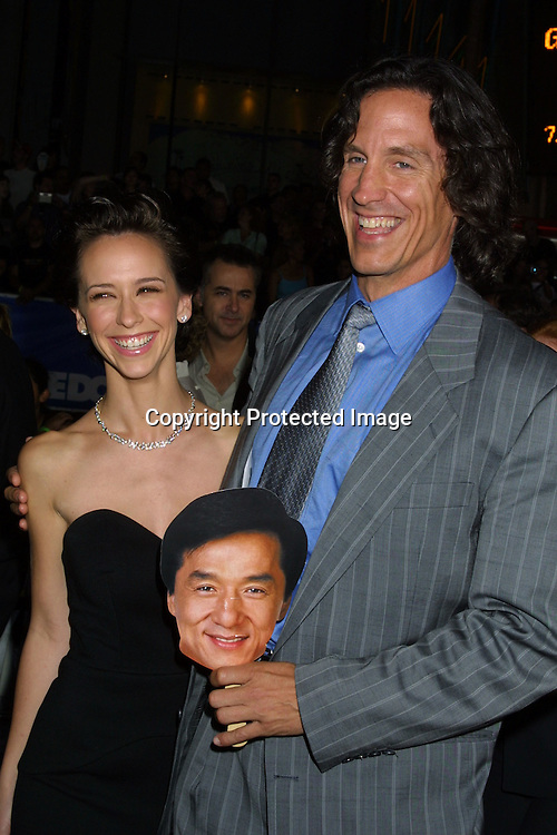 "©2002 KATHY HUTCHINS / HUTCHINS PHOTO .""TUXEDO"" PREMIRE.HOLLYWOOD, CA.9/19/02..JENNIFER LOVE HEWITT.DIRECTOR KEVIN DONOVAN.AND  JACKIE CHAN FAN!"