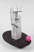 Origami moai statue designed by Andrey Ermakov folded by Marcio Noguchi.