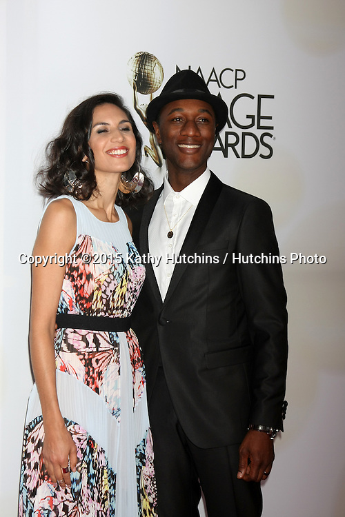 LOS ANGELES - FEB 6:  Aloe Blacc at the 46th NAACP Image Awards Arrivals at a Pasadena Convention Center on February 6, 2015 in Pasadena, CA