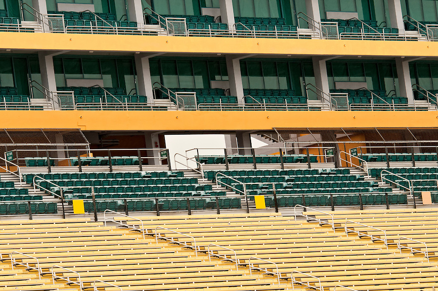View of empty rows of chair in stadium