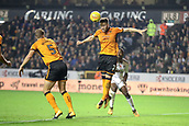 3rd November 2017, Molineux, Wolverhampton, England; EFL Championship football, Wolverhampton Wanderers versus Fulham; Matt Doherty of Wolverhampton Wanderers clears the danger from his penalty area