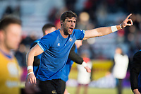Luke Charteris of Bath Rugby in action during the pre-match warm-up. European Rugby Champions Cup match, between RC Toulon and Bath Rugby on December 9, 2017 at the Stade Mayol in Toulon, France. Photo by: Patrick Khachfe / Onside Images