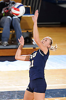 13 September 2008:  FIU outside hitter Ines Medved (11) returns the ball during the second set of the FIU 3-0 (25-11, 25-19, 25-19) victory over Penn in the 2008 FIU Invitational tournament at Panther Arena in Miami, Florida.