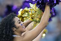 Husky cheerleaders entertain the crowd.