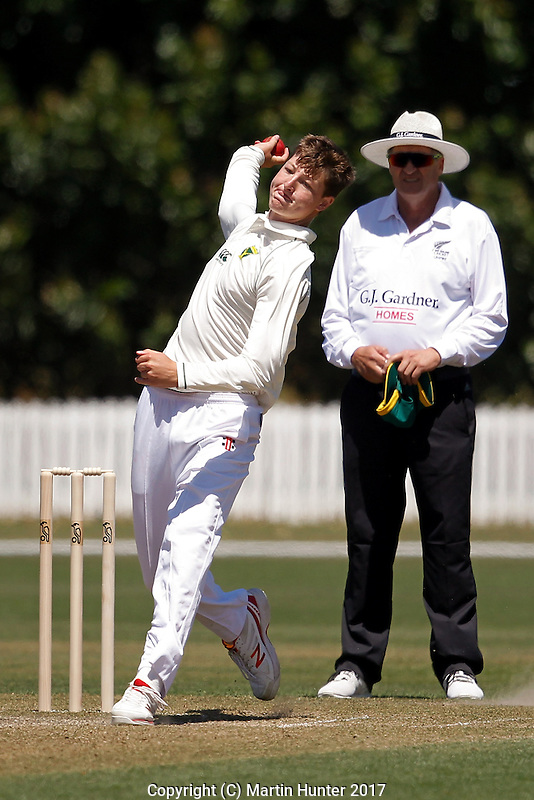 Men's Under 17 Cricket Tournament Wellington U17 vs. Central Districts U17 at Bert Sutcliffe Oval in Lincoln, New Zealand on Friday, 13 January 2017. Photo: Martin Hunter / lintottphoto.co.nz