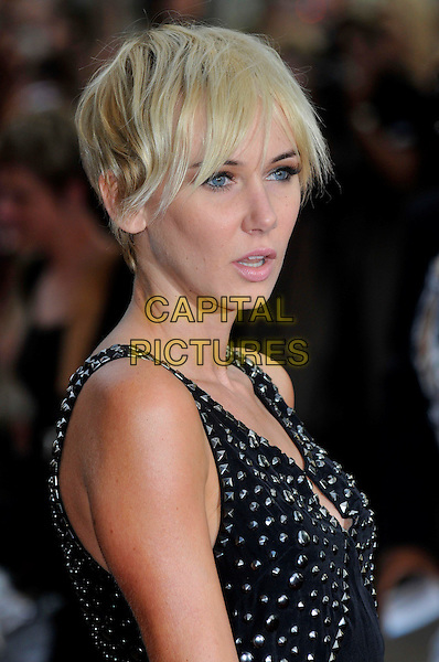 "KIMBERLY STEWART .Red Carpet Arrivals at the ""Sex And The City"" Movie World Premiere, Odeon Leicester Square, London, England, UK,.May 12th 2008..portrait headshot black studded dress silver.CAP/PL.©Phil Loftus/Capital Pictures"