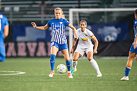 Allston, MA - Wednesday Sept. 07, 2016: Kristie Mewis, Abby Erceg during a regular season National Women's Soccer League (NWSL) match between the Boston Breakers and the Western New York Flash at Jordan Field.