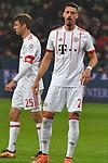 12.01.2018, BayArena, Leverkusen , GER, 1.FBL., Bayer 04 Leverkusen vs. FC Bayern M&uuml;nchen<br /> im Bild / picture shows: <br /> re Sandro Wagner (Bayern Muenchen #2),  li Thomas M&uuml;ller / Mueller (Bayern Muenchen #25),   <br /> <br /> <br /> Foto &copy; nordphoto / Meuter