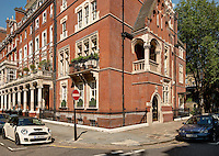 The exterior of 4b Cadogan Square, London.
