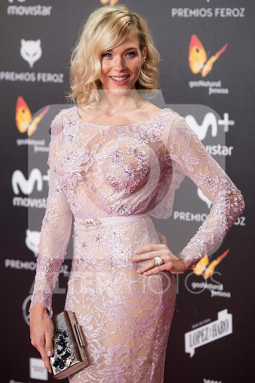 Patricia Montero attends red carpet of Feroz Awards 2018 at Magarinos Complex in Madrid, Spain. January 22, 2018. (ALTERPHOTOS/Borja B.Hojas)