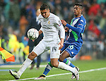 Real Madrid's Carlos Henrique Casemiro (l) and WfL Wolfsburg's Bruno Henrique during Champions League 2015/2016 Quarter-finals 2nd leg match. April 12,2016. (ALTERPHOTOS/Acero)