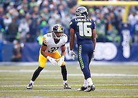 Ross Cockrell #31 of the Pittsburgh Steelers in action against the Seattle Seahawks during the game at CenturyLink Field on November 29, 2015 in Seattle, Washington. (Photo by Jared Wickerham/DKPittsburghSports)
