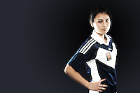 Cindy Lay was a train on with the Melbourne Victory team in Season 4, but finally made the step up to the first team this season. Despite her tender age, the midfielder has looked uncowed in her few appearances so far, whether they be on the wing or in the middle of the field. //  Born in Dili, East Timor, the 18 year old made her first Young Matildas training camp in October and will be hoping for plenty of other opportunities in the future. She spent the 2012 season with the NTC team. //  (Copyright Photo Sydney Low. Text Zee Ko)