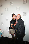 Model Selita Ebanks and Designer Max Azria: New York Mercedes-Benz Fashion Week Spring 2012 - Herve Leger - Backstage New York City, USA -  9/13/11
