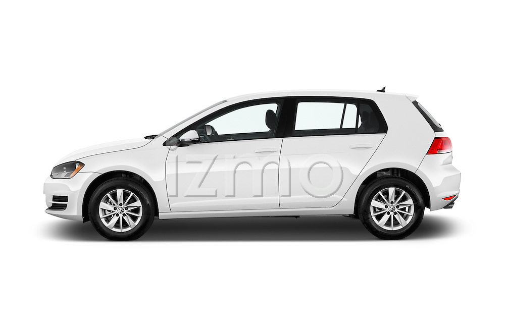 Car Driver side profile view of a 2017 Volkswagen Golf S 5 Door Hatchback Side View