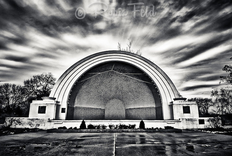 Band Shell after rain at Island Metro Park Dayton Ohio