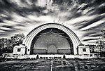 Band Shell after rain at Island Metro Park Dayton Ohio